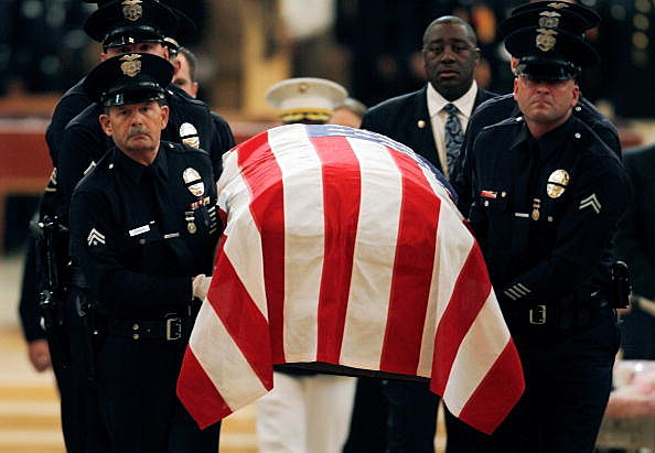 Funeral For LAPD Marine Killed In Afghanistan