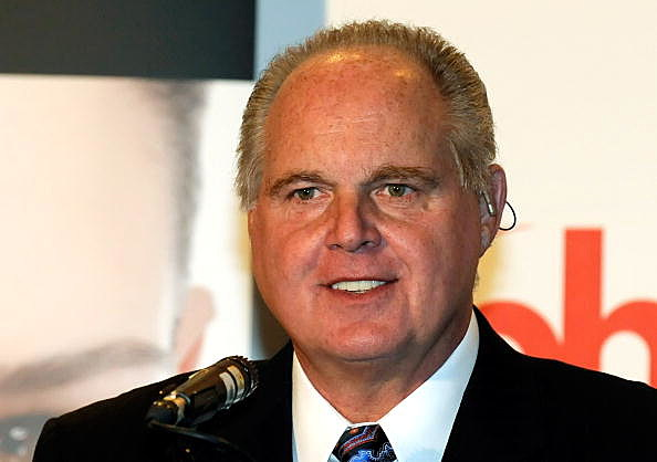 Rush Limbaugh, one of the judges for the 2010 Miss America Pageant, speaks during a news conference for judges at the Planet Hollywood Resort & Casino January 27, 2010 in Las Vegas, Nevada