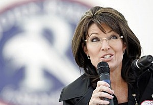 Former vice-presidential candidate Sarah Palin speaks to supporters of Republican John Raese during a rally for his U.S. Senate campaign October 30, 2010 in Charleston, West Virginia