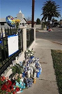 memorial to gang slaying victim-getty images