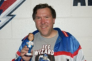 SuperFan Jimmy Butcher with bobblehead