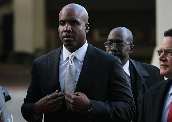 Former Major League Baseball player Barry Bonds arrives for the first day of his perjury trial on March 21, 2011 in San Francisco, California. Barry Bonds' perjury trial begins today accusing him of lying to a grand jury about his use of performance enhancing drugs when he played for the San Francisco Giants. The trial  is expected to last two to four weeks.