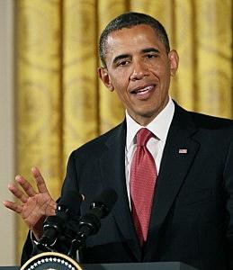 Obama Speaking during White House Visit of German Chancellor June 7 2011