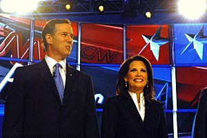 Rep. Michelle Bachmann at GOP Debate in New Hampshire