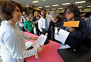 Unemployed Teachers at Los Angeles Job Fair