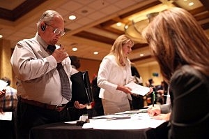 Job Seekers Attend Job Fair In San Jose, CA