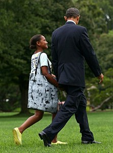 Obama Children Attend Private School
