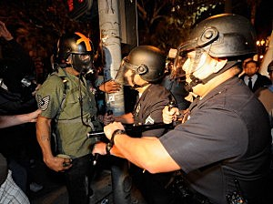 Occupy rioters disbanded