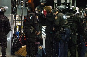 Occupy Portland Protestors And Police