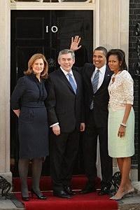 Michelle Obama meets British Prime Minister