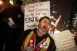 Union protestors-Occupy movement