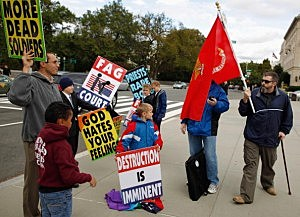 Westboro wackos protesting