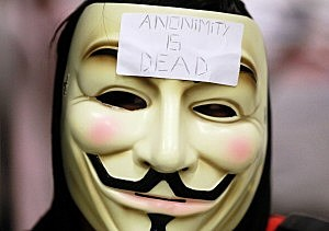 the logo of hacker group Anonymous