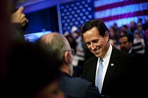 GOP Candidate For President Rick Santorum