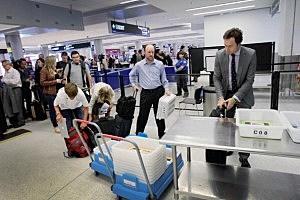 TSA screening station