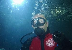 scuba diver--looking for golf balls?