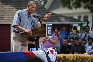 Obama campaigning in Ohio