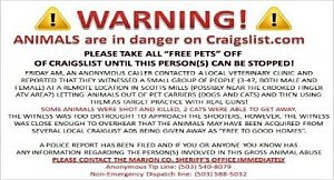 craigs list warning
