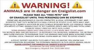 craigs list warning