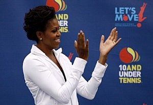 Michelle Obama scolds Gabby Douglas over Egg McMuffin