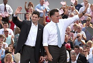 Paul Ryan (left) and Mitt Romney
