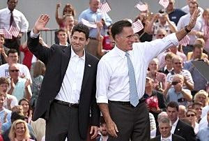 Paul Ryan (left) and Mitt Romney