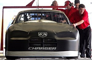 The new Dodge Charger being tested at Daytona 2012