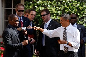 "Obama Holds ""Moving America Forward Rally"" At USC"
