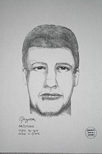Sketch of Dalles Oregon murder suspect