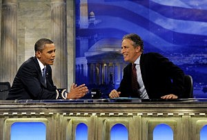 Obama Appears On Daily Show With Jon Stewart