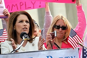 Michelle Bachmann (left) has changed the 'face' of politics