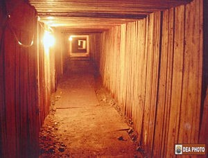 Drug cartel tunnel leading into the U.S.