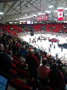 TC Americans Teddy Bear Toss night