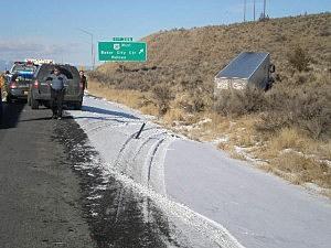 Fatal semi accident near Baker City