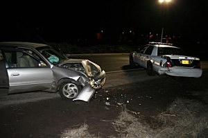 Bend Oregon woman slams into police car while driving drunk