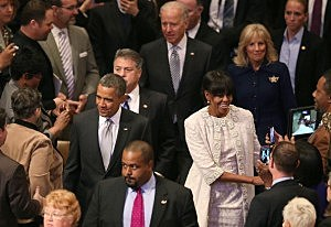 President Obama Attends Prayer Service At National Cathedral