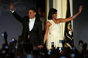 Obama at one of ten inaugural balls in 2009