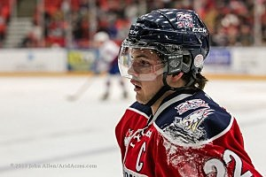 Tri City Americans Captain Justin Feser