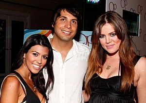 GGW Founder Joe Francis with a couple of Kardashians