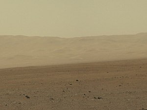 Actual view of Mars sent back from NASA rover