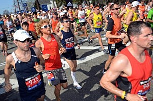 Explosions near finish line of Boston Marathon