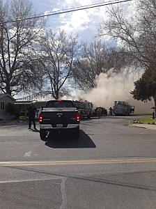 Trailer home fire in Pasco