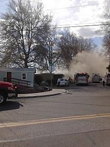 trailer fire pasco