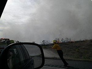 Brush fire south of Kennewick Saturday