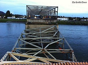 I-5 Skagit River Bridge after collapse
