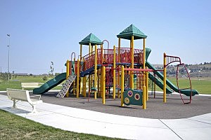 Carousel construction affecting Southridge Sports Complex playground