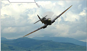 British WWII Spitfire airplane part of HAPO Airshow