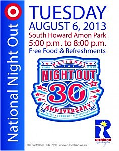 National Night Out against Crime coming to Richland