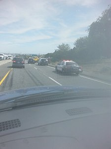 Traffic snarled by 395 accident in Kennewick