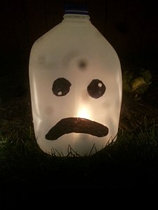 Milk jug ghosts are simple to make